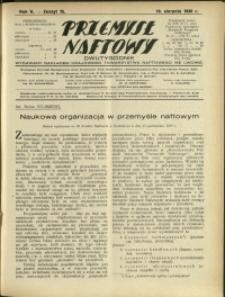 Przemysł Naftowy : 1930 : nr 15