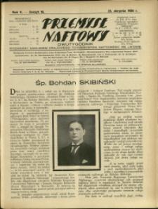 Przemysł Naftowy : 1930 : nr 16