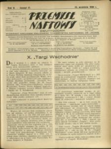 Przemysł Naftowy : 1930 : nr 17
