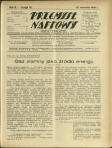 Przemysł Naftowy : 1930 : nr 18