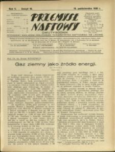 Przemysł Naftowy : 1930 : nr 19