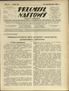 Przemysł Naftowy : 1930 : nr 20