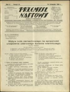 Przemysł Naftowy : 1930 : nr 21