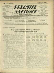 Przemysł Naftowy : 1930 : nr 22
