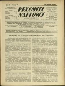 Przemysł Naftowy : 1930 : nr 25