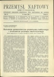 Przemysł Naftowy : 1931 : nr 3