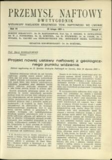 Przemysł Naftowy : 1931 : nr 4