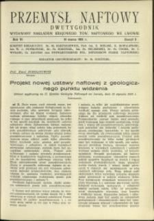 Przemysł Naftowy : 1931 : nr 5