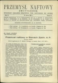 Przemysł Naftowy : 1931 : nr 6