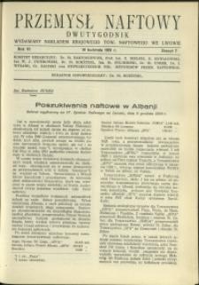 Przemysł Naftowy : 1931 : nr 7