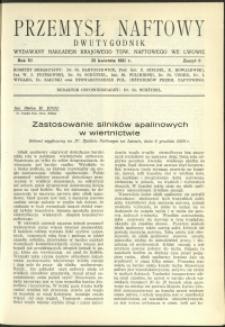 Przemysł Naftowy : 1931 : nr 8