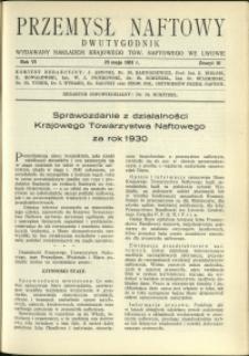 Przemysł Naftowy : 1931 : nr 10