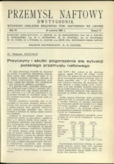 Przemysł Naftowy : 1931 : nr 11