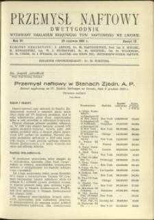 Przemysł Naftowy : 1931 : nr 12
