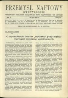 Przemysł Naftowy : 1931 : nr 14