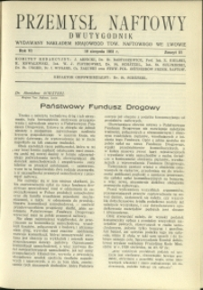 Przemysł Naftowy : 1931 : nr 15
