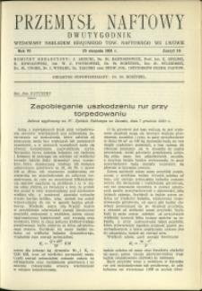 Przemysł Naftowy : 1931 : nr 16