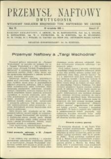 Przemysł Naftowy : 1931 : nr 17