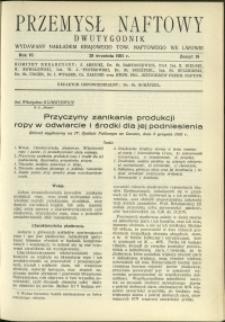 Przemysł Naftowy : 1931 : nr 18