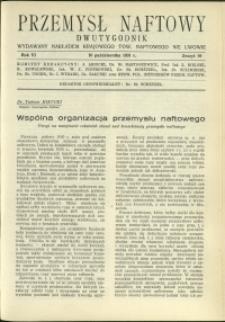 Przemysł Naftowy : 1931 : nr 19