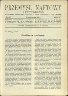 Przemysł Naftowy : 1931 : nr 20
