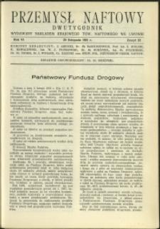 Przemysł Naftowy : 1931 : nr 22