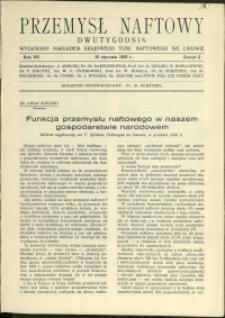 Przemysł Naftowy : 1932 : nr 2