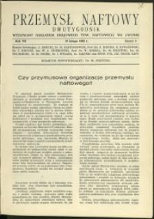 Przemysł Naftowy : 1932 : nr 3
