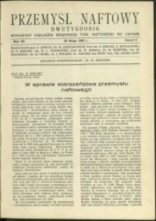 Przemysł Naftowy : 1932 : nr 4