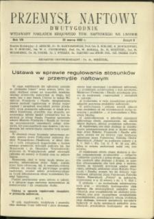Przemysł Naftowy : 1932 : nr 6