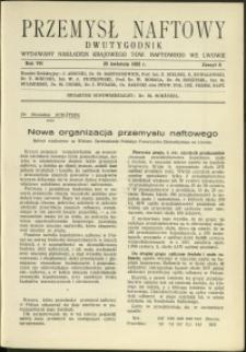Przemysł Naftowy : 1932 : nr 8