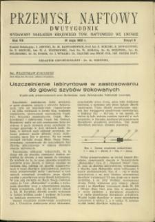 Przemysł Naftowy : 1932 : nr 9