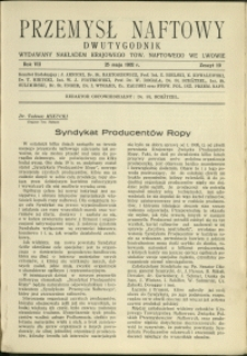 Przemysł Naftowy : 1932 : nr 10