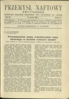 Przemysł Naftowy : 1932 : nr 11