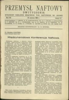 Przemysł Naftowy : 1932 : nr 12