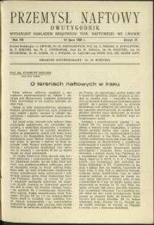 Przemysł Naftowy : 1932 : nr 13