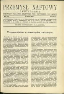 Przemysł Naftowy : 1932 : nr 14