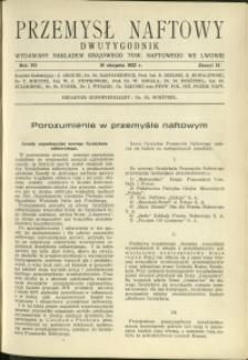 Przemysł Naftowy : 1932 : nr 15