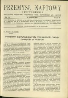 Przemysł Naftowy : 1932 : nr 16