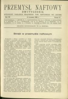 Przemysł Naftowy : 1932 : nr 17