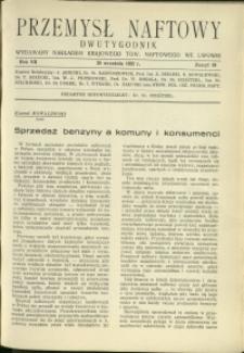 Przemysł Naftowy : 1932 : nr 18