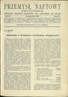 Przemysł Naftowy : 1932 : nr 19