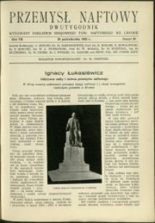 Przemysł Naftowy : 1932 : nr 20