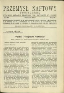 Przemysł Naftowy : 1932 : nr 21