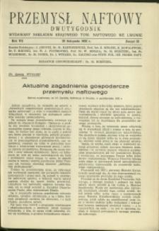 Przemysł Naftowy : 1932 : nr 22