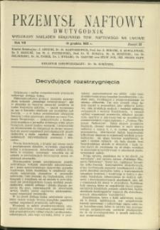 Przemysł Naftowy : 1932 : nr 23