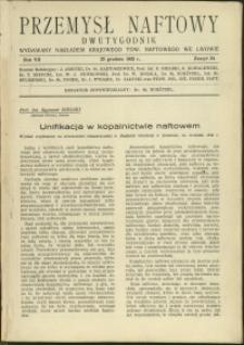 Przemysł Naftowy : 1932 : nr 24