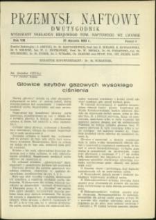 Przemysł Naftowy : 1933 : nr 2