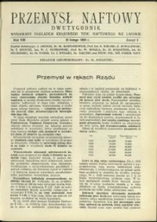 Przemysł Naftowy : 1933 : nr 3