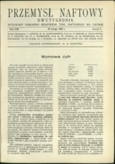Przemysł Naftowy : 1933 : nr 4